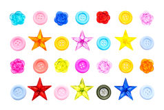Various sewing button Royalty Free Stock Images