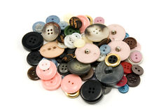 Various sewing buttons Royalty Free Stock Images
