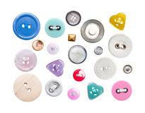 Various sewing buttons Royalty Free Stock Photography