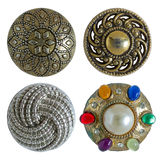 Various sewing buttons isolated Royalty Free Stock Image