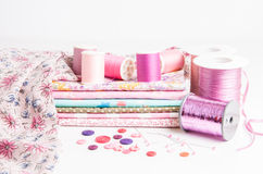 Various sewing supplies Stock Photo