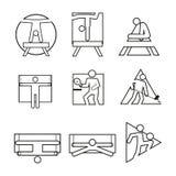Various Shape Outline Sport Abstract Symbol Vector Illustration Set. Various Shape Outline Sport Abstract Symbol Vector Illustration Graphic Design Set stock illustration