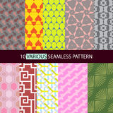 Various shape seamless pattern. Illustration of various seamless pattern Royalty Free Stock Photography
