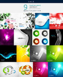Various shaped abstract backgrounds. Mega collection of various shaped abstract backgrounds Stock Images