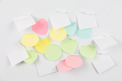 Various shapes note papers Royalty Free Stock Photography