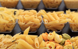 Various shapes of pasta royalty free stock photography
