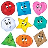 Various shapes theme image 1 stock illustration