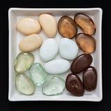 Various shiny decorative pebbles Royalty Free Stock Photos