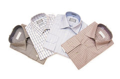 Various shirts isolated Royalty Free Stock Photography