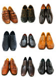 Various shoes isolated. On the white Stock Photography