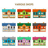 Various Shops Stock Photos