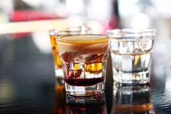 Various shots on a bar stage Royalty Free Stock Photography