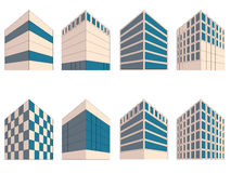 Various signs of buildings in perspective Stock Photography