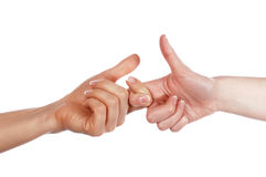 Various signs hands and palms Royalty Free Stock Photography
