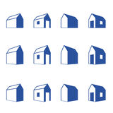 Various signs of small houses in perspective Royalty Free Stock Photography