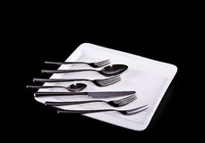 Various silver tablewares Royalty Free Stock Photography