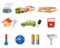 Various simple illustrations or icons Stock Photography