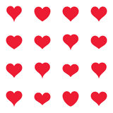 Various simple red heart icons Royalty Free Stock Photography