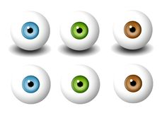 Various Single Eyeballs royalty free illustration