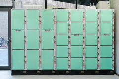 Various size of automatic locker rental Stock Photo