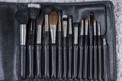 Various size of cosmetic brush. For makeup artist Royalty Free Stock Photo