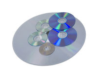 Various size and formats of disks Stock Image