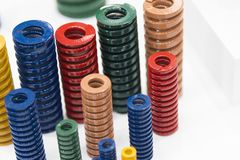 The various size industrial coil spring Royalty Free Stock Image