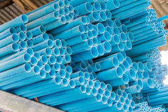 Various size of pvc pipes Stock Image