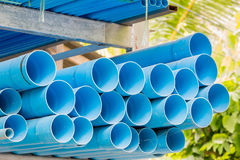 Various size of pvc pipes Royalty Free Stock Photo