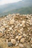 Various size of smooth rock surface Stock Photos