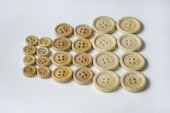 Clothing wood buttons Stock Photography