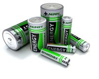 Various sized NiMH Batteries Stock Images