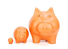 Various sized piggy banks Royalty Free Stock Photo