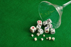 Various sizes of dice Royalty Free Stock Photo