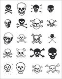 Various skull designs. Collage of skull illustrations for use in web or print applications Stock Image