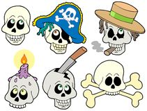 Various skulls collection Royalty Free Stock Images