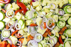 Various sliced vegetables Stock Photography