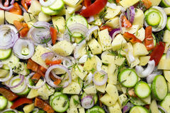 Various Sliced vegetables Stock Images