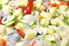Various Sliced vegetables Stock Photos