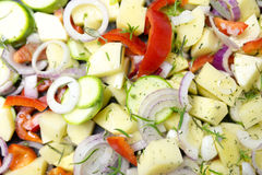 Various Sliced vegetables Royalty Free Stock Image