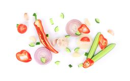 Various sliced vegetables. Stock Images