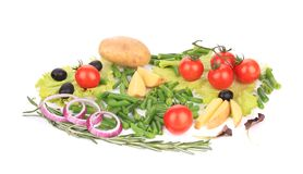 Various sliced vegetables. Stock Photography