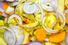 Various sliced vegetables Royalty Free Stock Photos