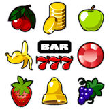 Various slot machine icons Royalty Free Stock Photos