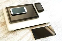 Various smartphones and Tablet PCs Stock Images