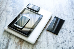 Various smartphones and Tablet PCs Stock Photo