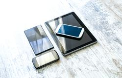 Various smartphones and Tablet PCs Stock Image