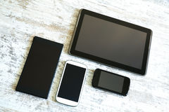 Various smartphones and Tablet PCs Royalty Free Stock Images