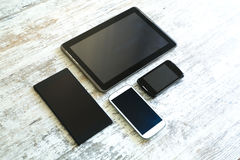 Various smartphones and Tablet PCs Royalty Free Stock Photography