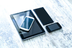 Various smartphones and Tablet PCs Royalty Free Stock Image
